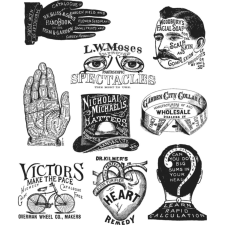 Tim Holtz Cling Stamps set - Eclectic Adverts - CMS372