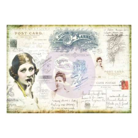 Prima - Finnabair Mixed Media Tissue Paper - Carte Postale