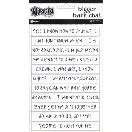 Ranger - Dyan Reaveley's Dylusions Bigger Back Chat Stickers - White