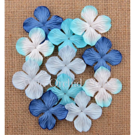 Wild Orchid Crafts - MIXED BLUE TONE HYDRANGEA 25 mm