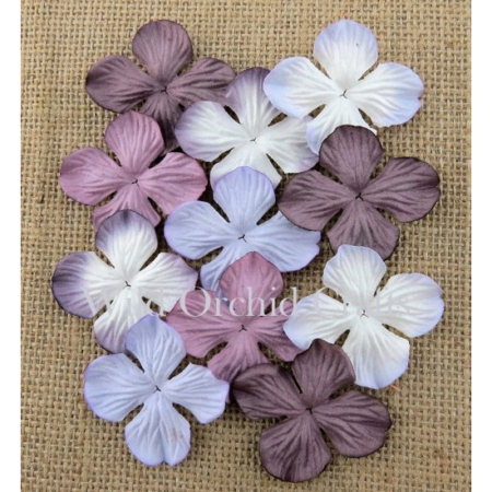 Wild Orchid Crafts - MIX PURPLE TONE HYDRANGEA 25mm