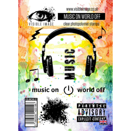 VISIBLE IMAGE STAMP - Music ON World OFF - VIS-MOW-01