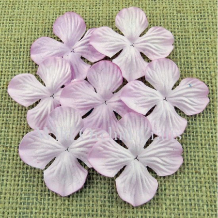 Wild Orchid Crafts - ROSE PINK HYDRANGEA BLOOMS 25mm