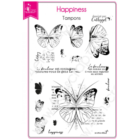 4enscrap Stamp - Butterfly Spring - Happiness - SET 175