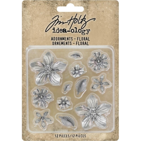 Tim Holtz Idea-Ology - Metal Adornments Floral - TH93789
