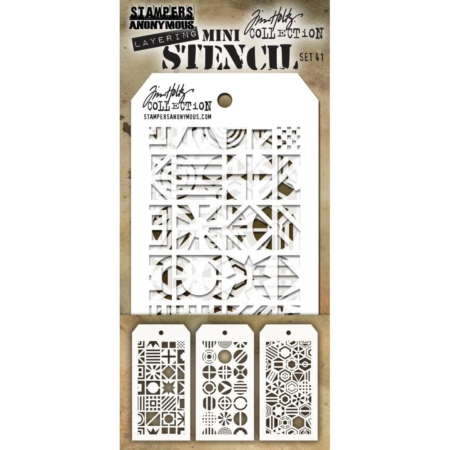 Tim Holtz - Layering stencil - Mini Set 41 - MST041