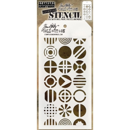 Tim Holtz - Layered Stencil - Patchwork Circle - THS124