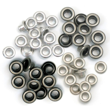 We R Memory Keepers - We R Eyelets Standard - Cool Metal