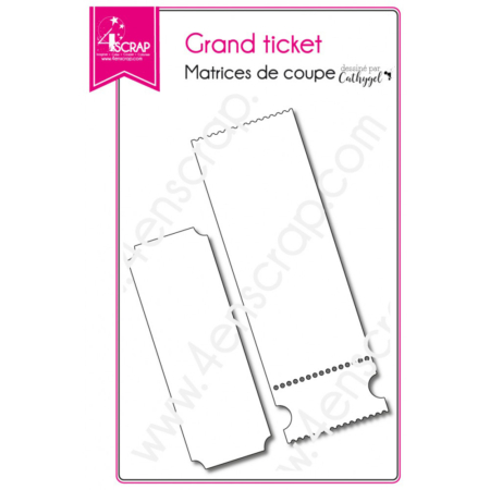 4enscrap Dies - birthday invitation Grand ticket - 4EN-317