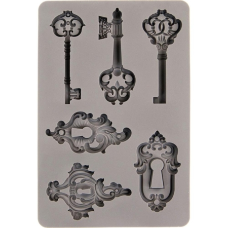 "Prima - Finnabair Decor Moulds 5""X8"" - Keys - 599416"