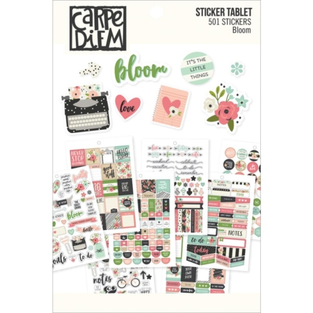 Simple Stories Carpe Diem A5 Tablets Stickers - Bloom - 7960