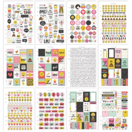 Simple Stories Carpe Diem A5 Tablets Stickers - Emoji Love - 8024
