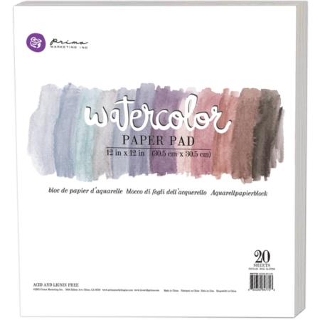 "Prima Marketing - Watercolor Paper Pad 12""X12"" - 847753"