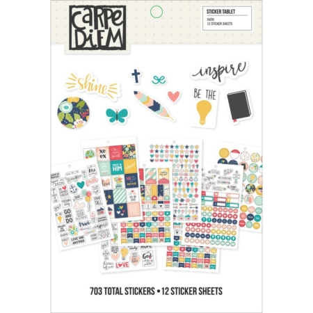 Simple Stories Carpe Diem A5 Tablets Stickers - Faith - 8906