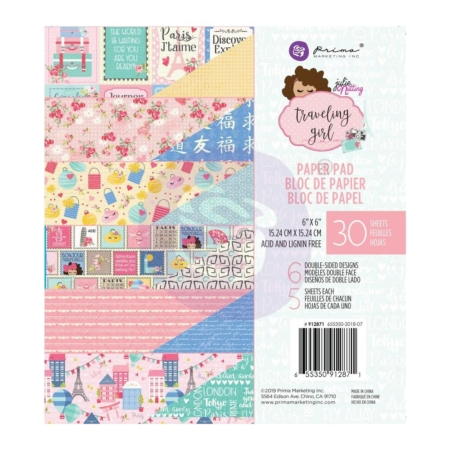 "Prima Marketing Traveling Girl - Paper Pad 6""X6"" - 912871"