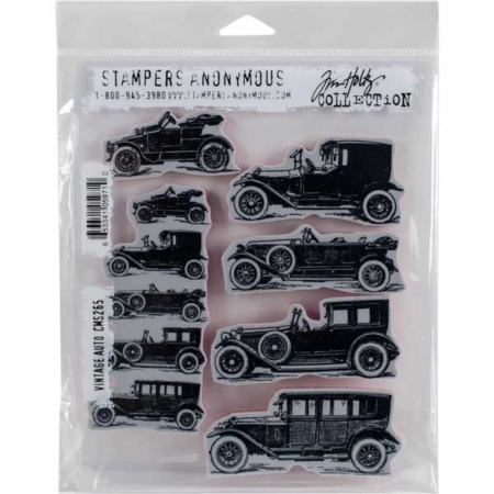 Tim Holtz Cling Stamps set – Vintage Auto – CMS265