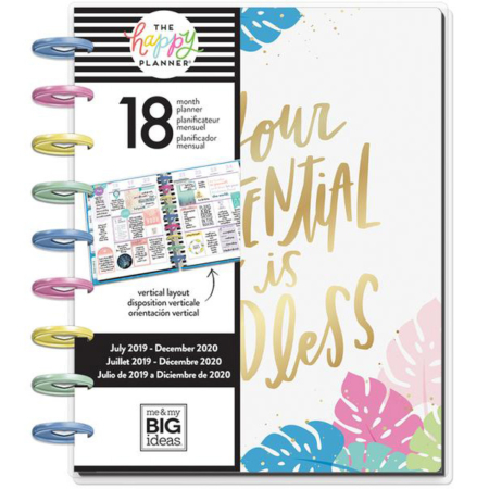 Happy Planner Me & My Big Ideas Pastel Tropics Classic PLNR-116