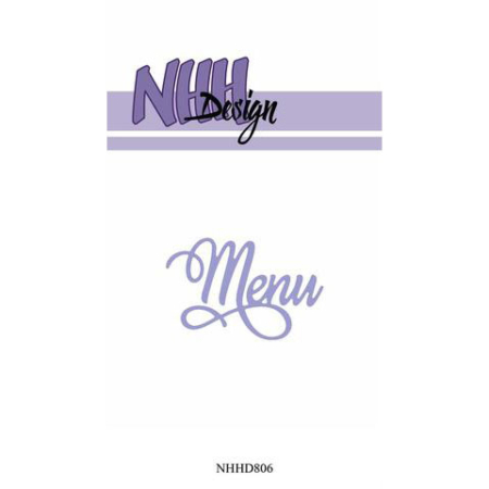 NHH Design Dies - Menu - NHHD806