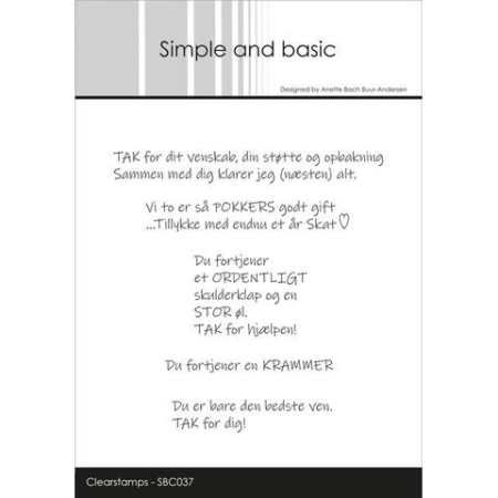 Simple and Basic Stempel - Tak for dig... - SBC037
