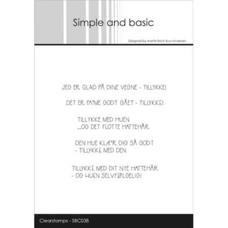 Simple and Basic Stempel - Tillykke... - SBC038