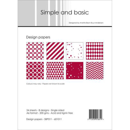 Simple and basic - Design papers - A6 - SBP011