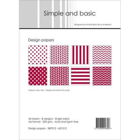 Simple and basic - Design papers - A6 - SBP012