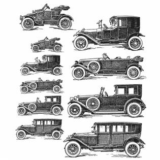 Tim Holtz Cling Stamps set - Vintage Auto - CMS265