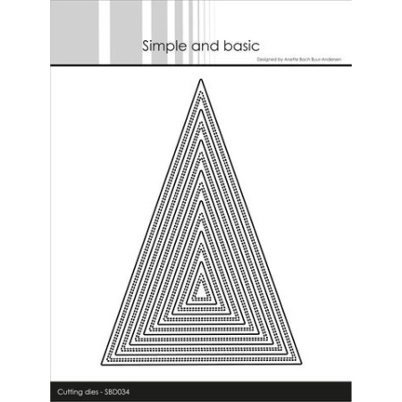 Simple and Basic Dies - Double pierced triangle - SBD034
