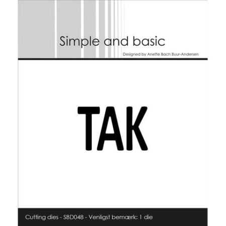 Simple and Basic Dies - Text Plate - TAK - SBD048