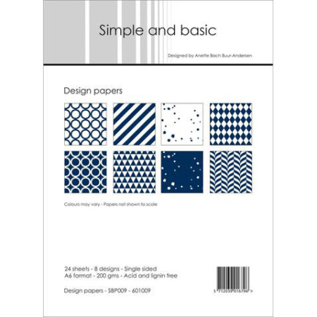 Simple and basic - Design papers - A6 - SBP009