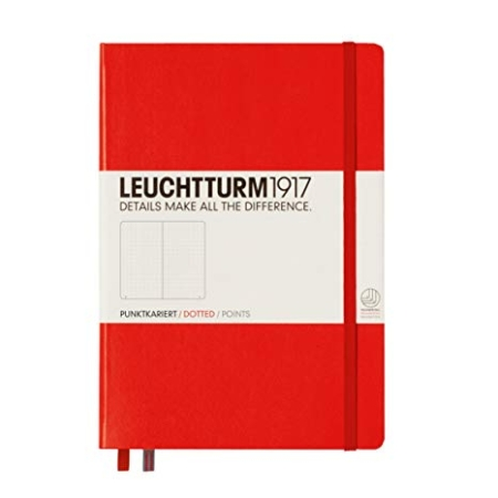 Leuchtturm1917 hardcover dotted A5 Medium Red - 313627