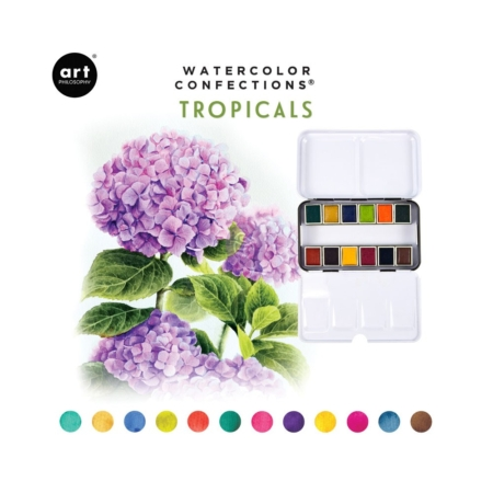 Prima Art Philosophy Confections Watercolor Pans Tropicals