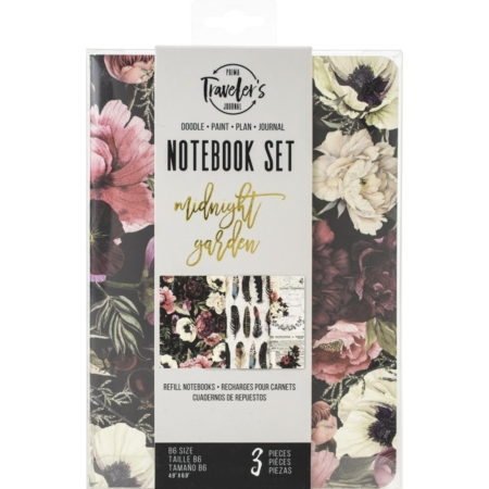 Prima Traveler's Journal Refill Notebook set - Midnight Garden