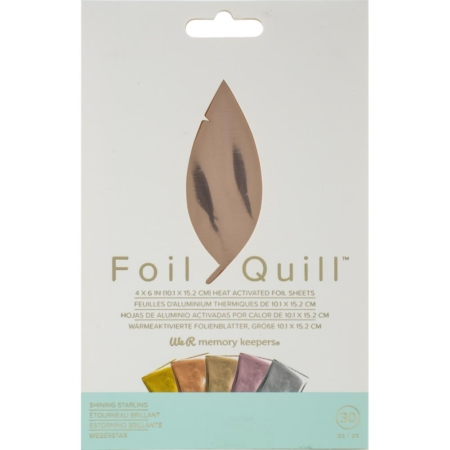 We R Memory Keepers Foil Quill Foil Sheets - Shining Starling - 660670