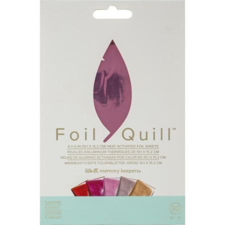 We R Memory Keepers Foil Quill Foil Sheets - Flamingo - 660671