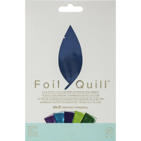 We R Memory Keepers Foil Quill Foil Sheets - Peacock - 660673