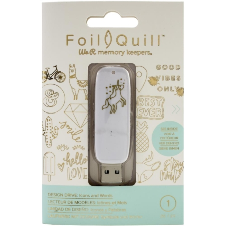 We R Memory Keepers Foil Quill USB - Icons & Words - 660688