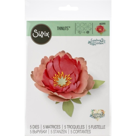 Sizzix Thinlits - Dies By Courtney Chilson Peony - 663593
