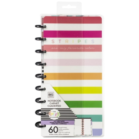 Happy Planner Classic Half Sheet Notebook - Stripes Are - FIPL17