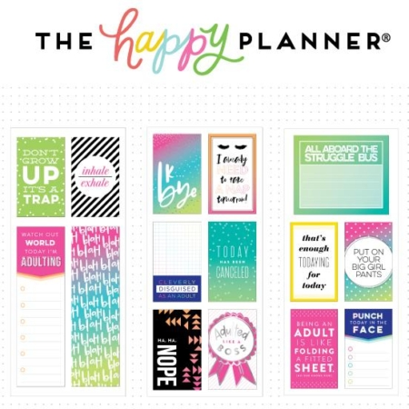 Happy Planner Medium Flip Stickers - Adulting - PFLIP-11