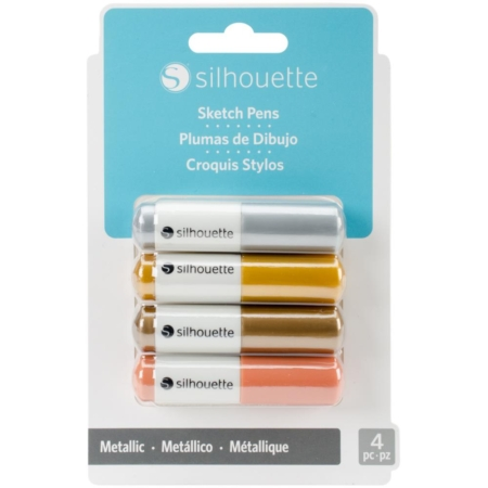 Silhouette Sketch Pens - Metallic Gold, Copper, Silver & Bronze