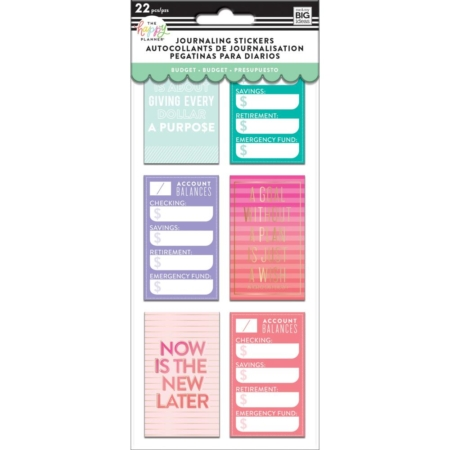 Happy Planner Medium Flip Stickers - Budget - PFLIP-08