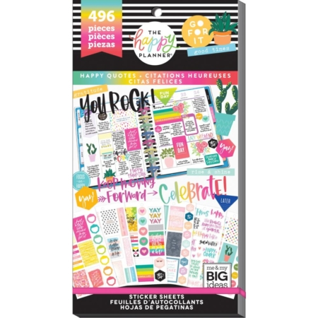 Happy Planner Sticker Value Pack - Happy Quotes - PPSV-119