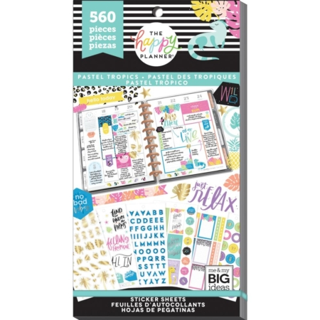 Happy Planner Sticker Value Pack - Pastel Tropics - PPSV-132