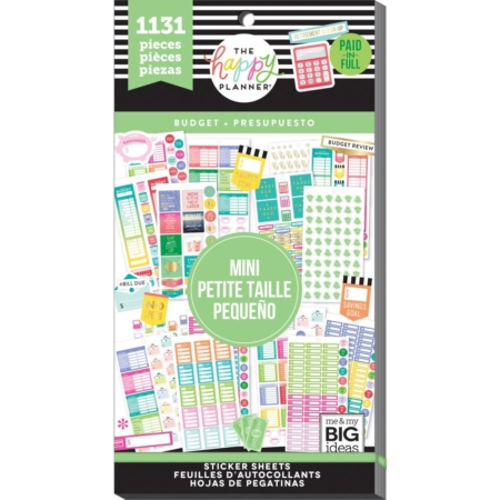 Happy Planner Sticker Value Pack - Mini Budget - PPSV-133