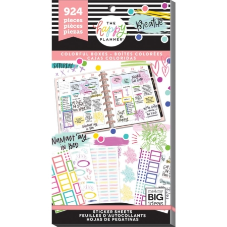 Happy Planner Sticker Value Pack - Colorful Boxes - PPSV-121