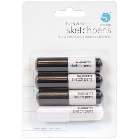 Silhouette Sketch Pen - 3 Black & 1 White