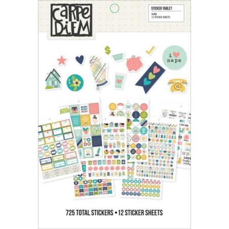 Simple Stories Carpe Diem A5 Tablets Stickers - Home - 8916