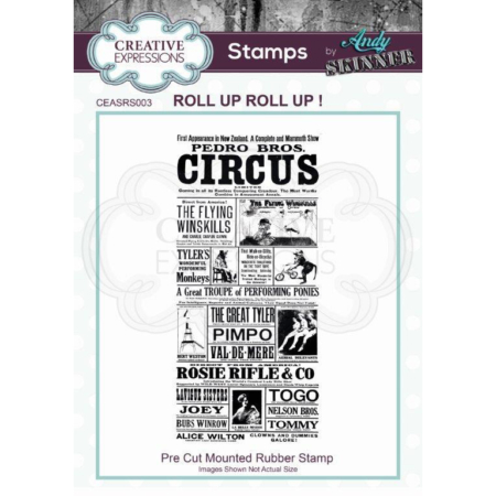 Andy Skinner Rubber Stamp - Roll up Roll up! - CEASRS003