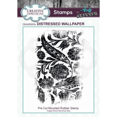 Andy Skinner Rubber Stamp - Distressed Wallpaper - CEASRS004